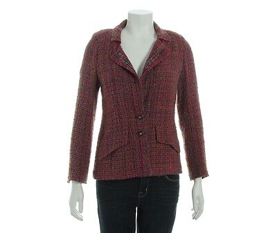 CHANEL Purple Tweed Jacket, Size 40 6 - Lightweight and lovely!