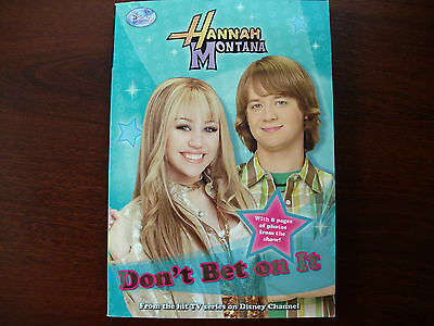 Disney Hannah Montana~Don't Bet On It~No.10 By M.C King (2008) FREE SHIPPING!