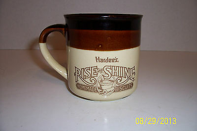 Vintage HARDEES Rise and Shine Homemade Biscuits Coffee Mug 1989 Ceramic Cups