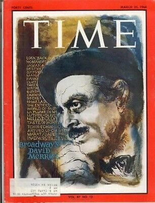 BROADWAY'S DAVID MERRICK TIME MAGAZINE March 25 1966 Vol 87 No 12