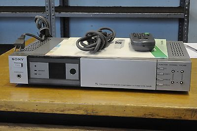 SONY VTX-1000R PLL Frequency synthesized analog component TV Tuner