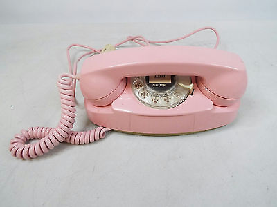 Pink Princess Electric Bell Phone Rotary Telephone 1960s Original