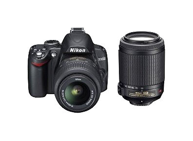 Nikon D3000 10.2 MP Digital SLR Camera - Black (Kit w/AF-S Nikkor 55-200 mm lens