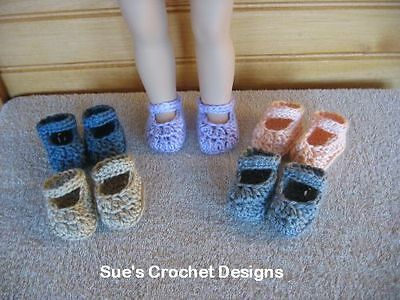 CROCHET DOLL SHOES FOR AMERICAN GIRL AND BITTY BABY - LOT 5