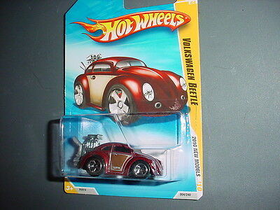 HOT WHEELS 2010 NEW MODELS VOLKSWAGEN BEETLE MAROON 4 OF 44 FREE USA SHIPPING