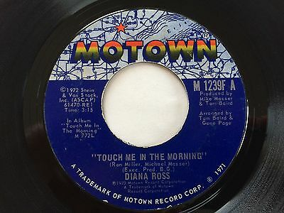 """DIANA ROSS """"TOUCH ME IN THE MORNING / I WON'T LAST A DAY WITHOUT YOU """" MOTOWN 45"""