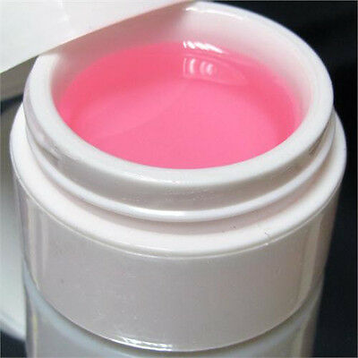 3x Nail Art Pink Color UV Gel Builder Acrylic Manicure For Extension Acrylic UV