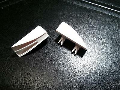 LEGO TECHNIC Car Truck Part Exhaust Engine Flair 2 pin White lot of 2pc