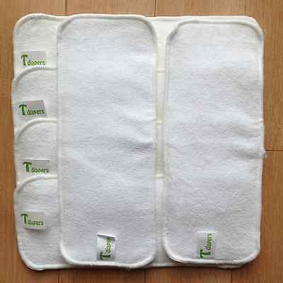 6 Pack 100% Microfiber Inserts for Cloth Diapers Reusable Washable  3  Layers