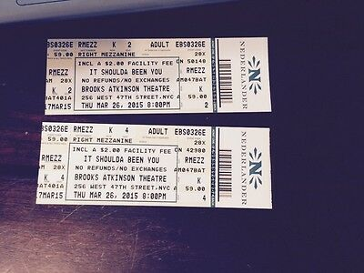 It Shoulda Been You - Broadway Tickets (2) 3/26/2015 8:00 P.M.
