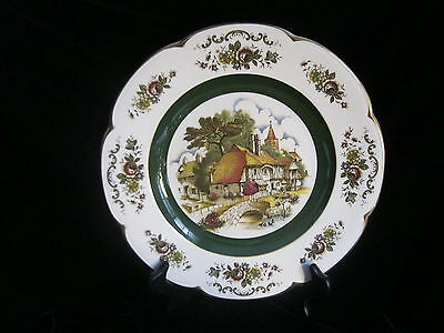 "ASCOT SERVICE PLATE BY WOOD AND SONS DECORATIVE ENGLISH WALL PLATE  10.5""D"
