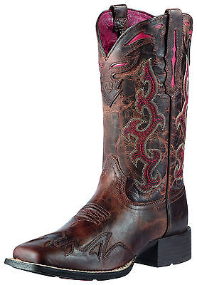 ARIAT - Women's Sidekick Boots - Sassy Brown / Red - ( 10010937 ) - New in Box