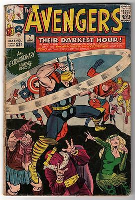 MARVEL Comics AVENGERS  #7 1964 G+ 3.0   DARKEST HOUR