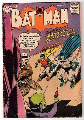 DC Comics BATMAN silver age #117  4.0  VG 1958 Manhunt in outer space