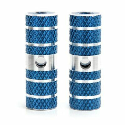 2 x BMX Mountain Bike Bicycle Axle Pedal Alloy Foot Stunt Pegs Cylinder Blue WS