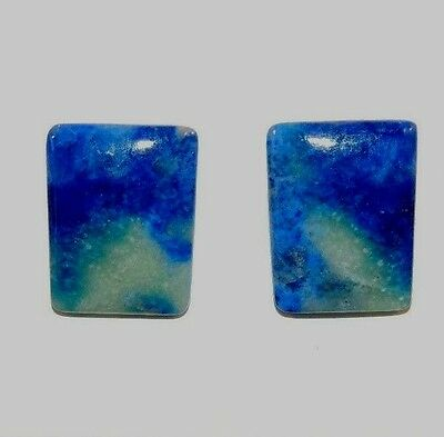 Lapis Lazuli  Pair of Cabochons 17x13mm with 3mm dome (8535)