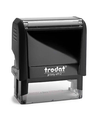 Trodat Printy 4912 Self Inking Rubber Text & Logo Stamp 46x17mm (up to 4lines )