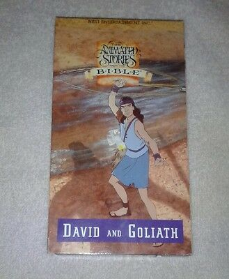 the animated stories from the bible david and goliath vhs
