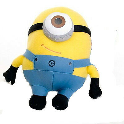 """New Despicable Me Plush Soft Toy 6"""" MINIONS Movie 3D Eye Doll Yellow Stewart"""