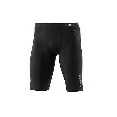 SKINS A400 Men's Half Tights black with yellow Stitching - B40001002