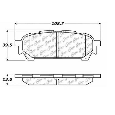 Posi-Quiet Extended Wear w/Shims & Hardware fits 2003-2008 Subaru Fore