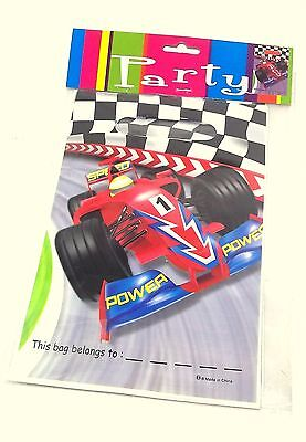 Formula 1 Nadscar Hot Wheels Birthday Treat Loot Bags Sack Party Favors Supply30