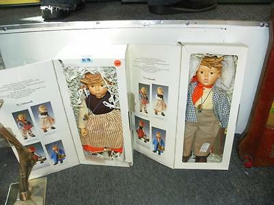 "2 PC LOT - M.I. HUMMEL BOY & GIRL DOLLS IN ORIGINAL BOXES - 14"" TALL Lot 161"