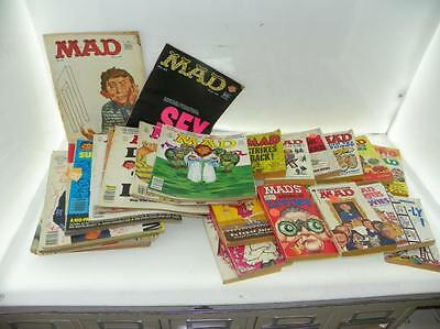 LOT OF 35+ VINTAGE MAD (25 CENT) MAGAZINES & BOOKS Lot 376