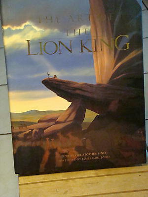 Signed Disney Artbook, The Art of The Lion King Signed by Christopher Finch