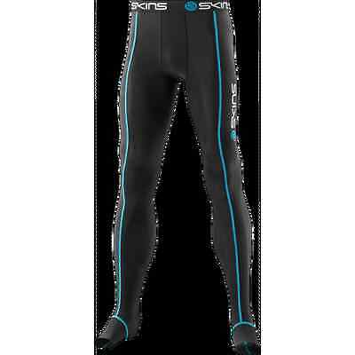 SKINS Jetskins Travel & Recovery Long Tights blk with blue stitching - B13001001