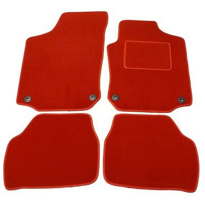 Peugeot 1007 Tailored Red Car Mats