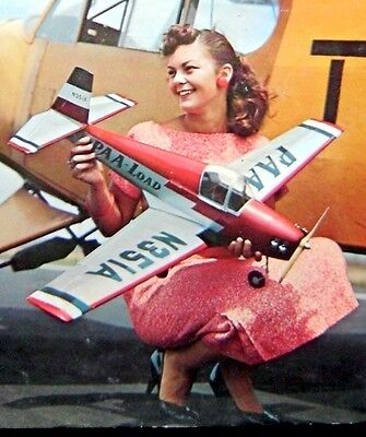 """Vintage MOONEY MITE 45"""" 1/2A FF RC  Model Airplane PLAN + Construction Article"""