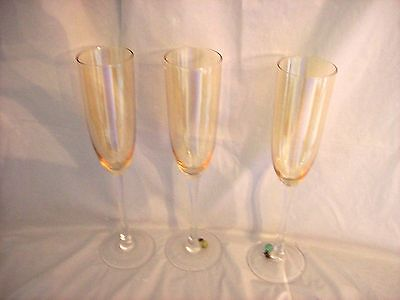 Set of 3 Long Stem Tinted Wine Glasses from Lenox