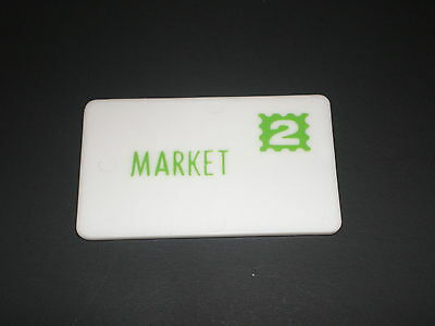 #2 Fisher Price Little people Mail Letter Green Stamp #2 Market