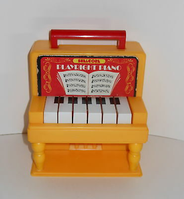Rare HTF Vintage Shelcore Playright Piano Musical Toy 1984