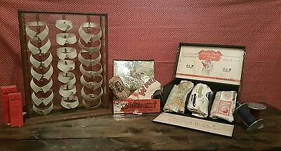 Antique 21 Collar Display Case General Store Country Store
