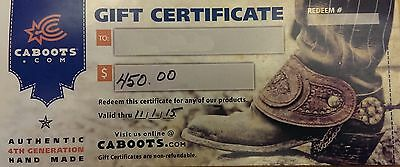 Gift Certificate for Custom Boots - $450 - Cosplay, Pirate, Civil War, Cowboy