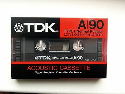 New Sealed Audio Cassette TDK A90 ( TYPE I ) Made In Japan