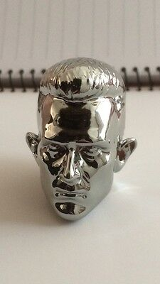 Custom 1/6 Terminator Arnold VIP GIFT T1000 head sculpt Fit hottoys DX13 T800