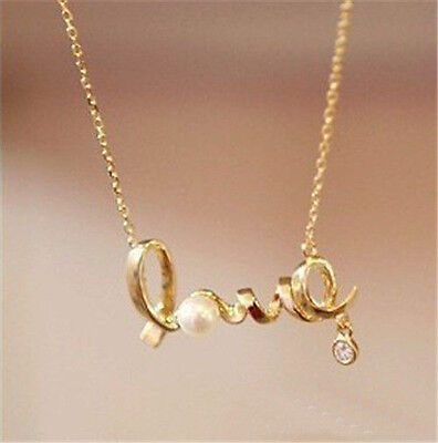 New women's retro hollow Fashion LOVE pendant necklace Best gift  G05