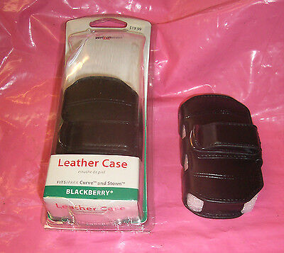 (Lot of 2) New Verizon RIM8330CAS Blackberry Leather Cases for Curve and Storm