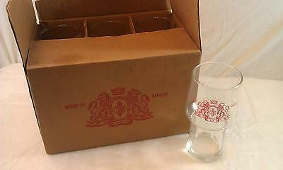 Vintage set of 6 House Of Carling glasses with original box