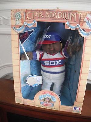 1986 Cabbage Patch Kids Chicago White Sox Baseball CPK Stadium All Stars BLK  11
