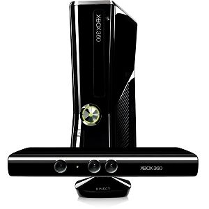 Microsoft Xbox 360 S with Kinect 4 GB Matte Black Console (NTSC) w/7 games