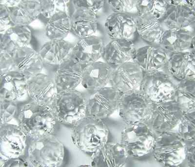 100pcs 4mm DIY Jewelry Faceted Rondelle crystal #5040 3x4mm Beads White colors D