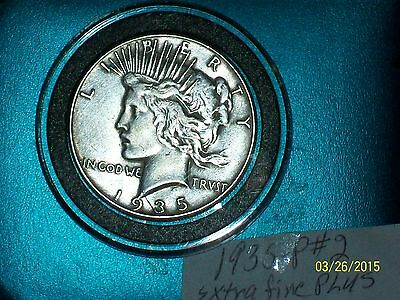 1935-P PEACE SILVER DOLLAR-#2-XF PLUS(VERY RARE KEY DATE(LOT OF 1)1 DAY)FREE S/H