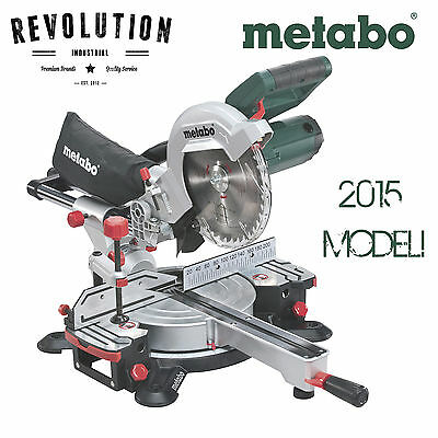 NEW MODEL Metabo 216mm Crosscut and Mitre Saw Sliding KGS 216 M
