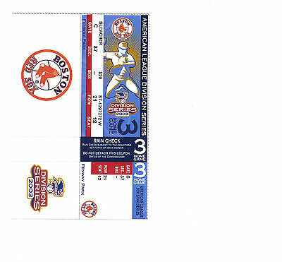 Boston Red Sox 2003 ALDS Ticket Home Game 3 Mint Attached Unused last curse year