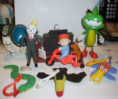 Jack In The Box Kid Meals Toys Circa 1997 thru 2003 8 Piece Lot Excellent !