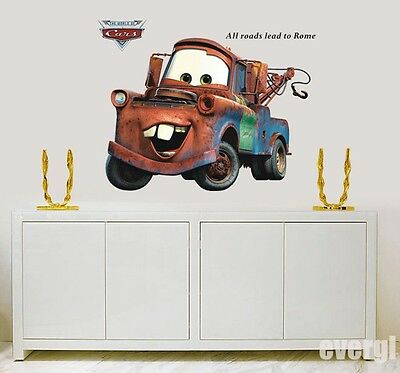New CARS 2 MOVIE WALL DECALS Lightning McQueen Mater Stickers Bedroom Art Decor